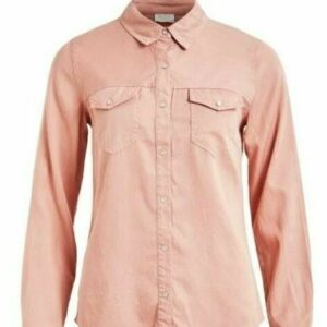Vibista Denim Shirt Misty Rose