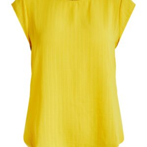 Vilovie capsleeve top geel