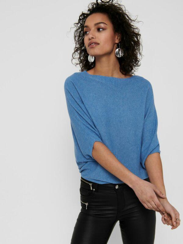 JdyNew Behave batsleeve pullover blue