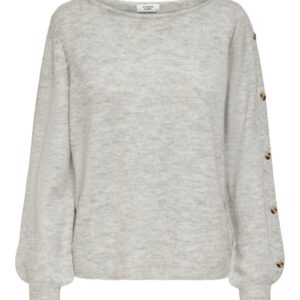 JdyElanor Button Pullover Light Grey