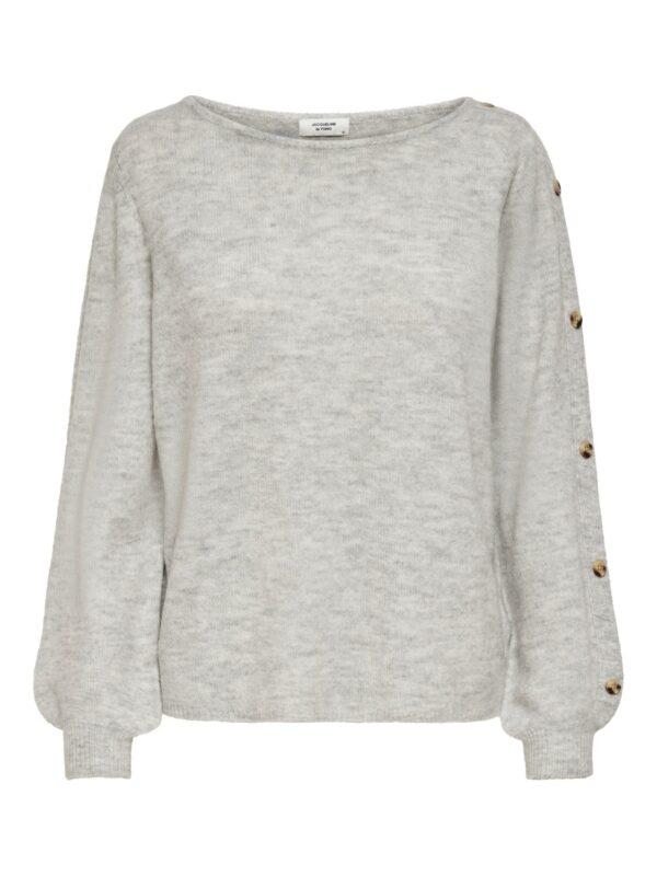 JdyElanor Button Pullover Light Grey
