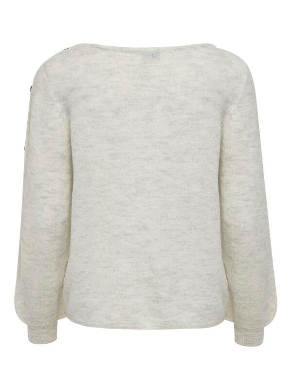 JdyElanor Button Pullover White Melange