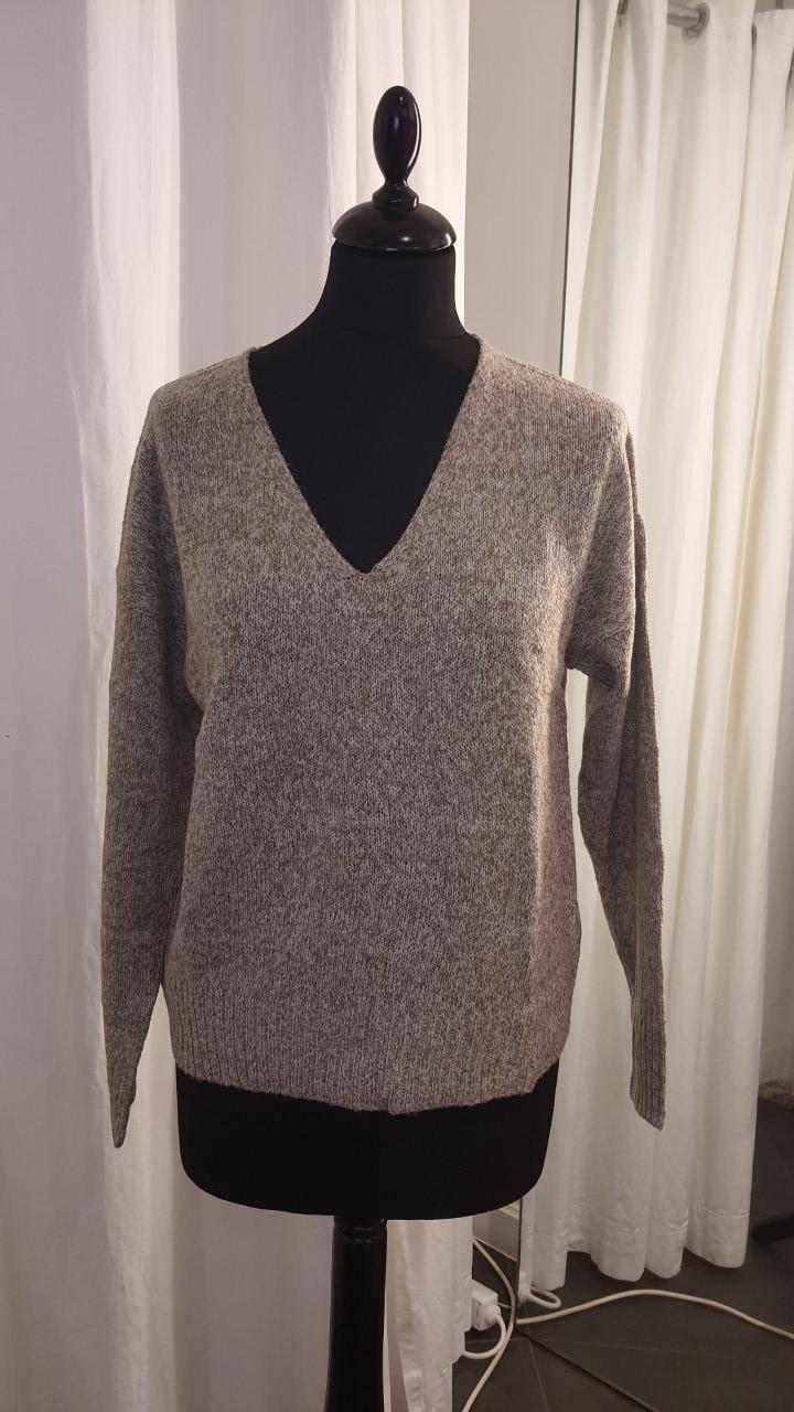 Jdygitta V-neck Pullover Lead Grey