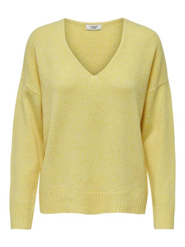 Jdygitta V-neck Pullover Yellow Cream