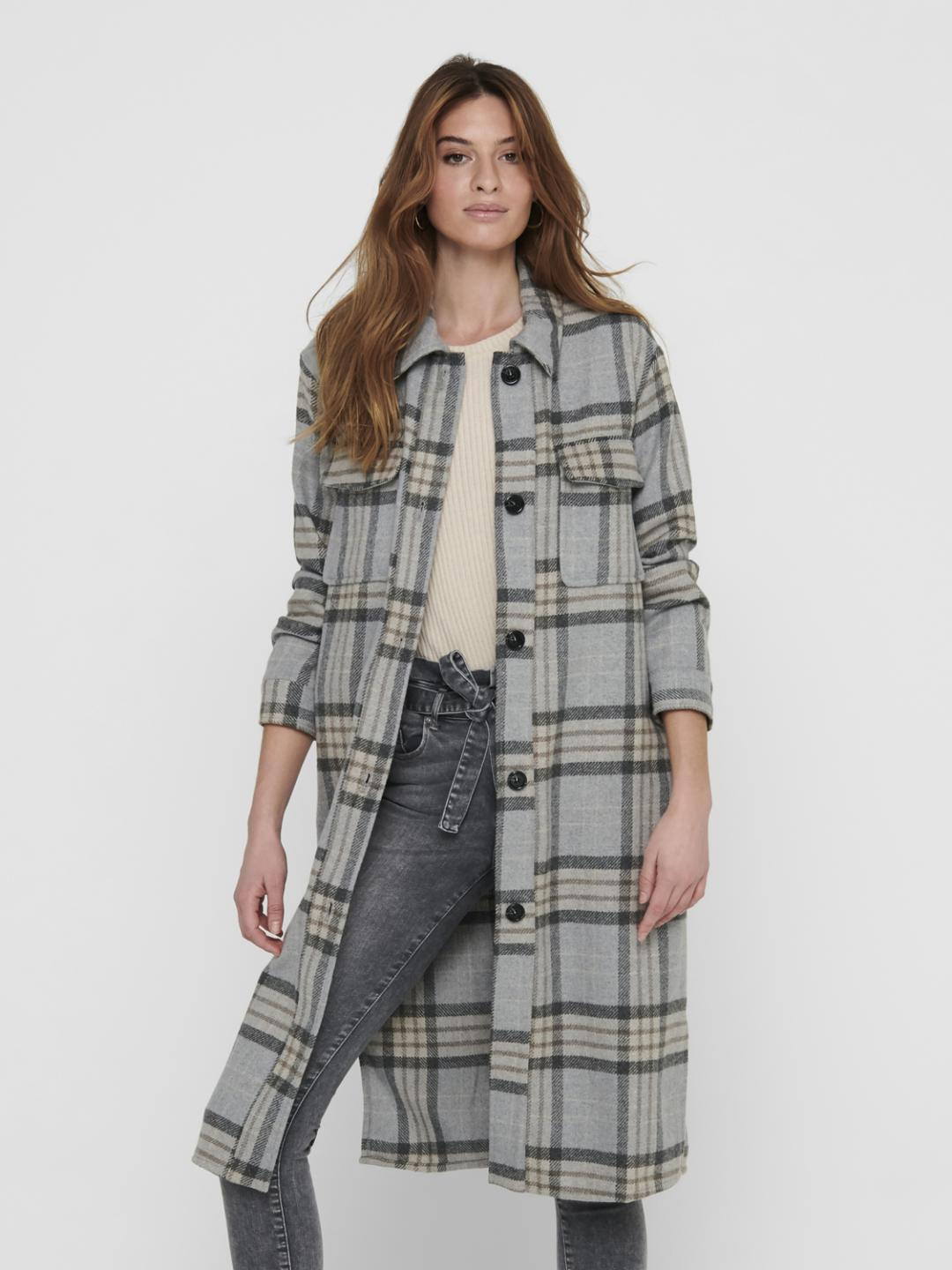 JdySibel Check Long Jacket