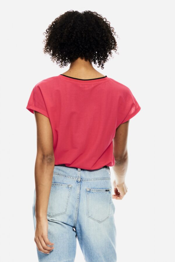 T-shirt Fiery pink