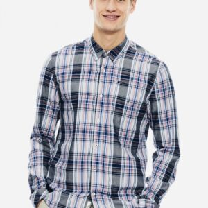 Men's shirt Check Dark Moon