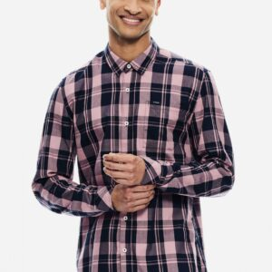 Men's shirt Check Mauve Mist