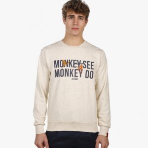 monkey crew neck sweat linen