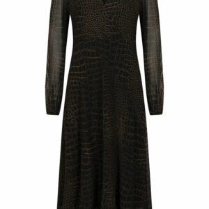 Dress midi mesh croco print