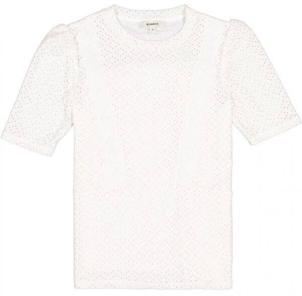 T-Shirt ss Volants White