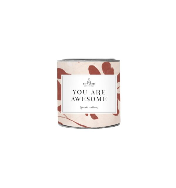 You are awesome - Small Candle