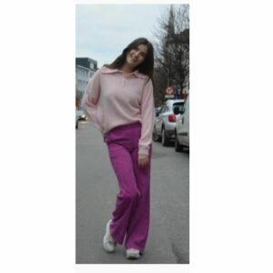 Charro Rib Pants Fuchsia