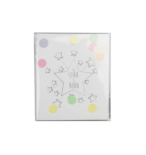 A Star Is Born - Confetti card