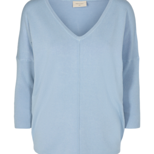 Knitted Shirt Chambray Blue
