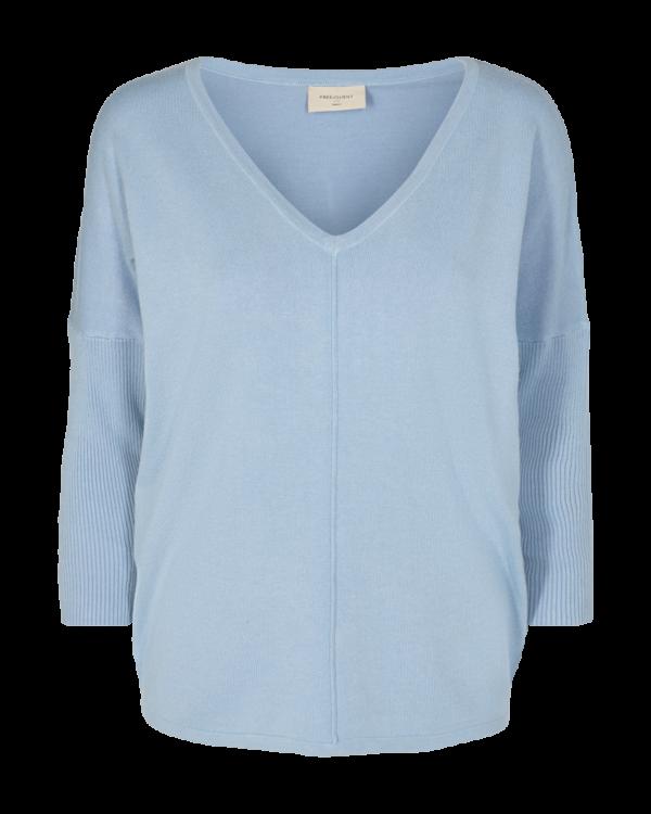 Knitted Shirt Chambray Blue