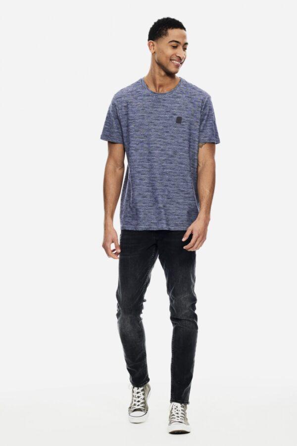 T shirt v neck blue glow