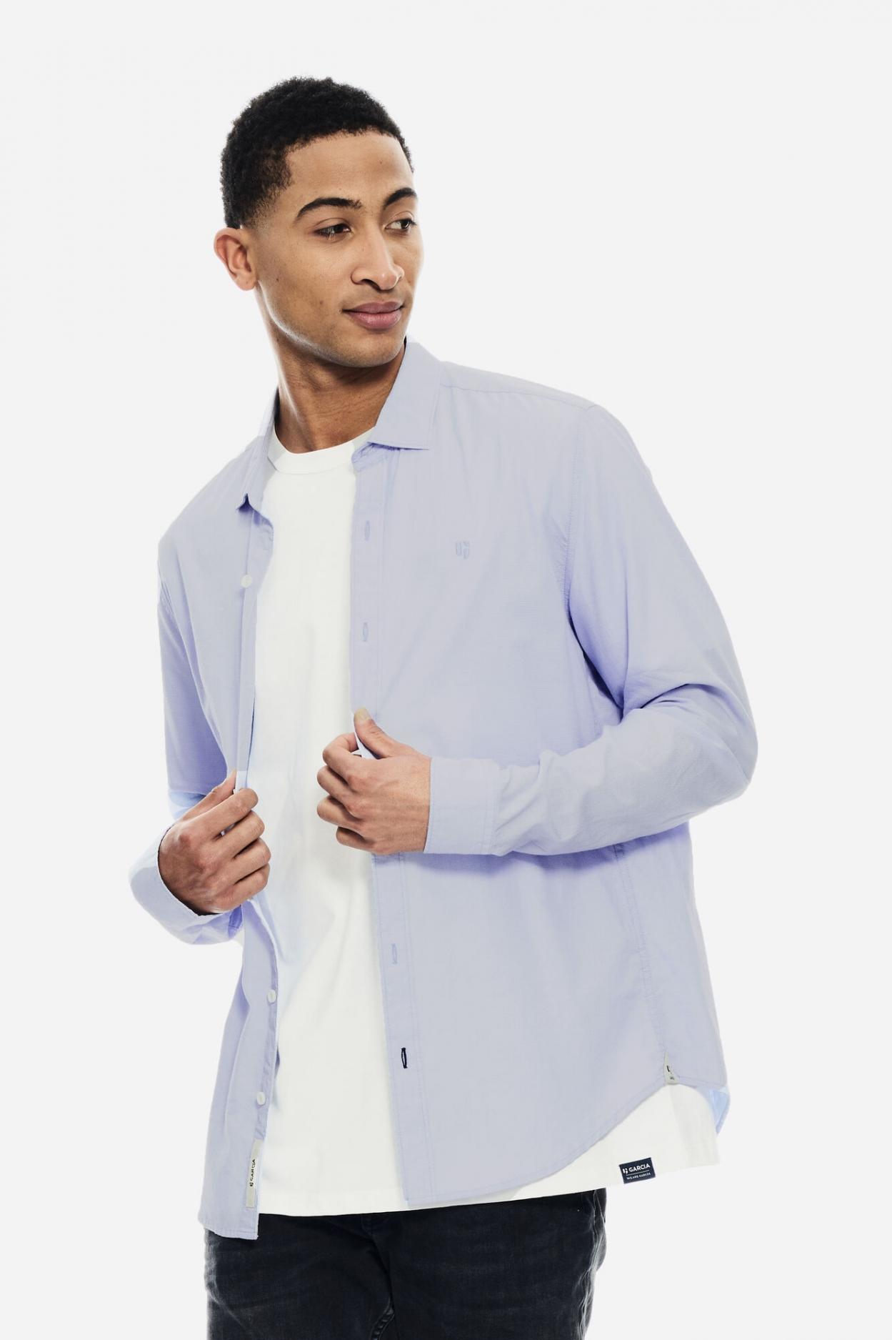 Shirt l/s blue glow