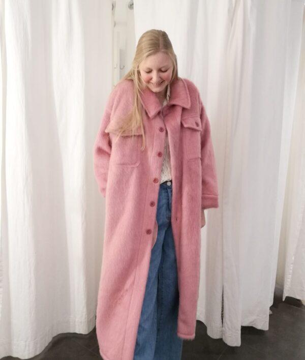 long jacket roze one size