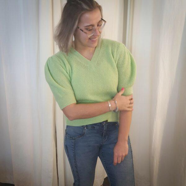 Knit Short Sleeve Green