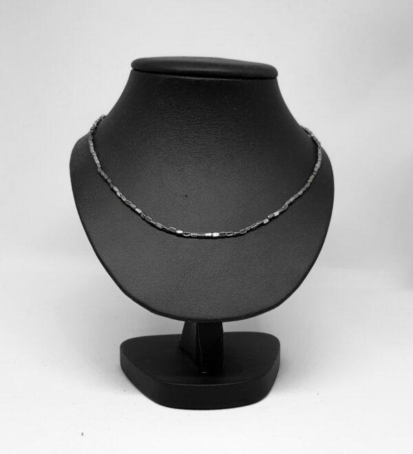 Kralenketting zilver multichrome