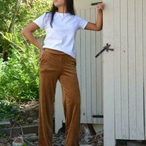 Lancio Velvet Pants Cognac