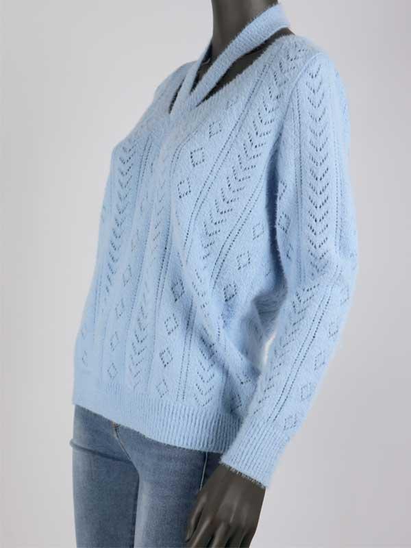 Knit Lisa Licht Blauw