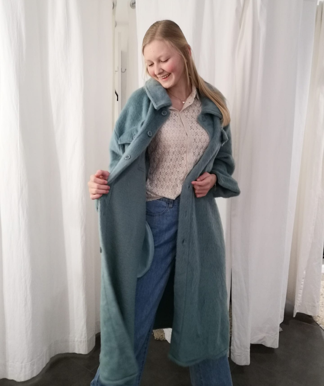 long jacket mint