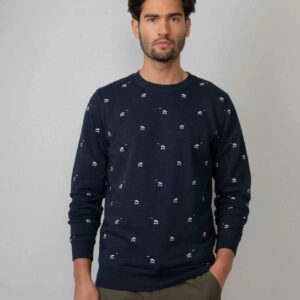 Palmtree Sweater Dark Navy