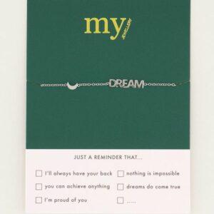 Armband met dream en maantje