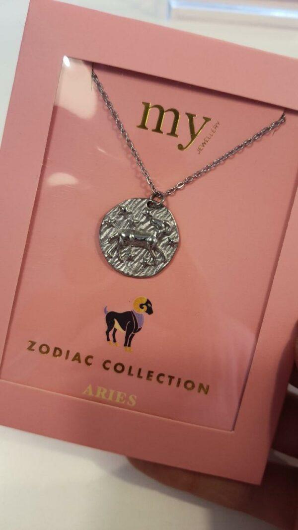 Zodiac Ketting - Ram Zilver