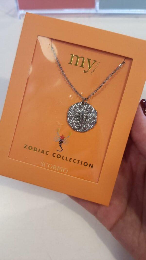 Zodiac Ketting - Schorpioen Zilver