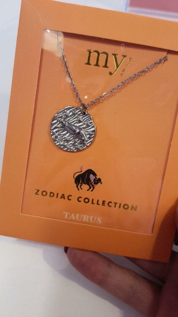 Zodiac Ketting - Stier Zilver