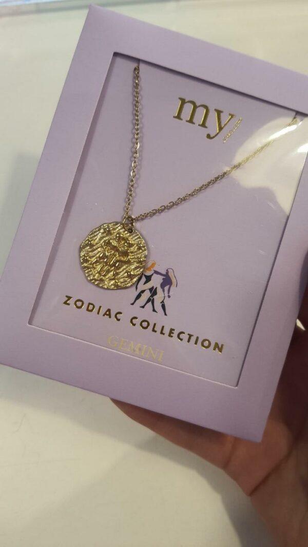 Zodiac Ketting - Tweeling Goud
