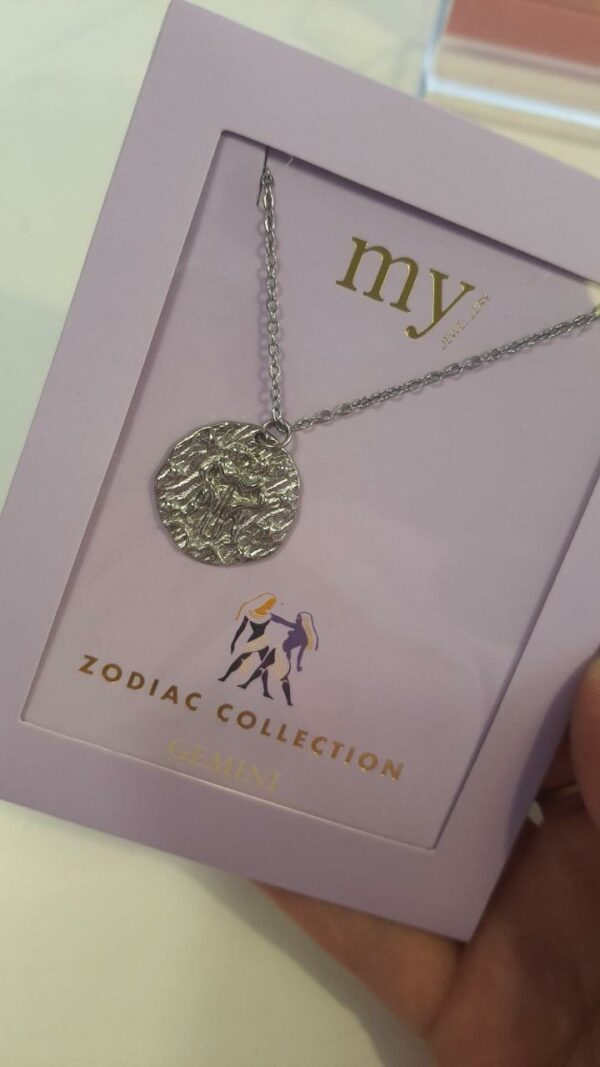 Zodiac Ketting - Tweeling Zilver