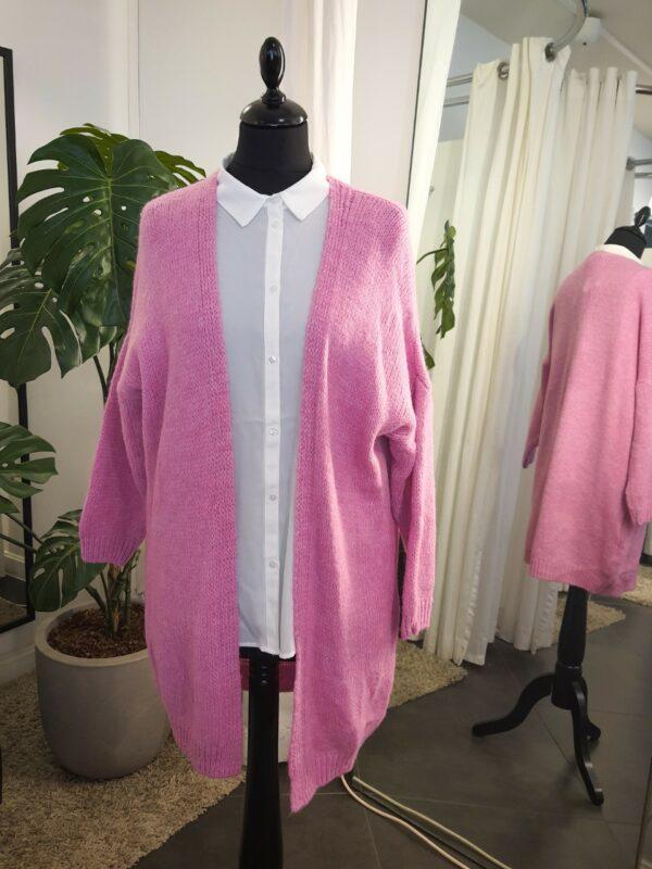 Knitted vest roze