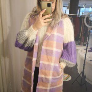 Waistcoat checkered purple
