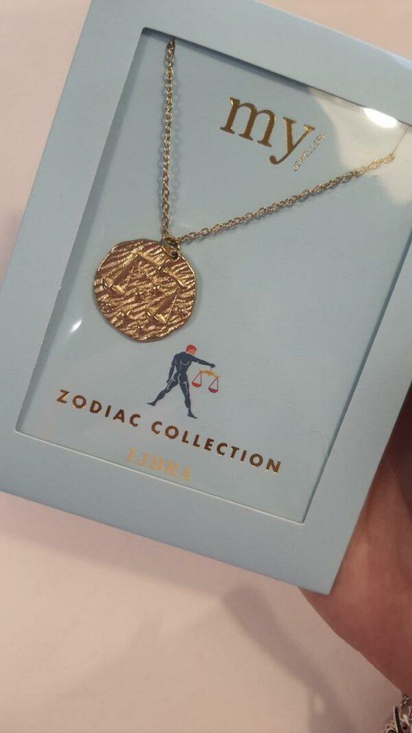 Zodiac Ketting - Weegschaal Goud