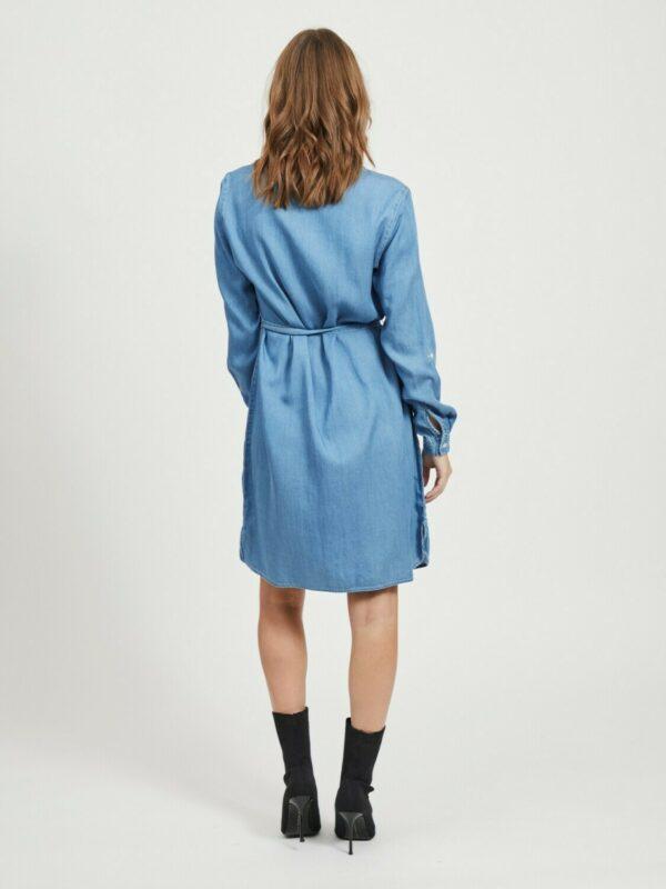 ViBista Denim Belt Dress