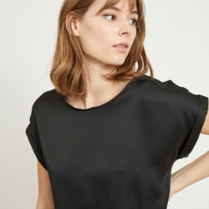 ViEllette Satin Top Noos Black