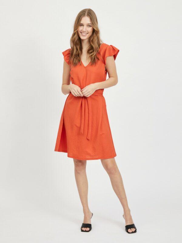 viwandera v neck short dress