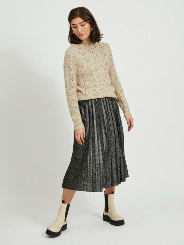 ViNitban Skirt Print Forest Night