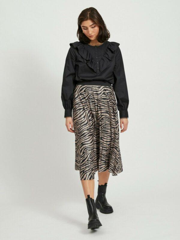 ViNitban Print Skirt Zebra