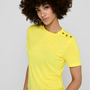 JdyLondon Button Top Yellow Cream