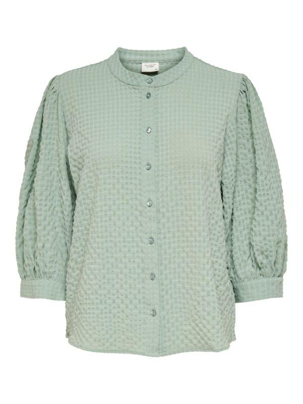 jdyphoebe puff shirt jade