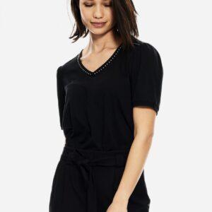 T shirt black studs