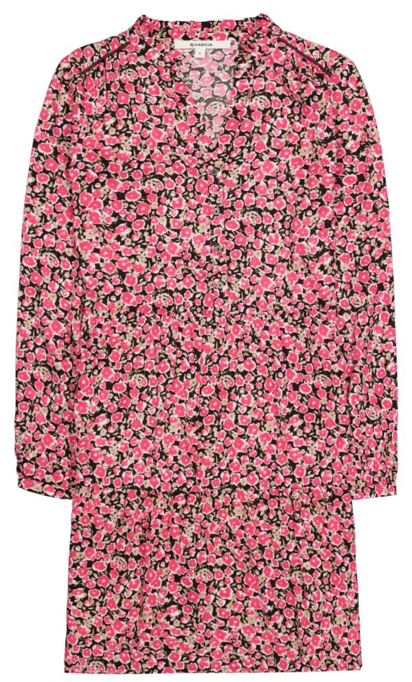 Dress Flower Fiery Pink