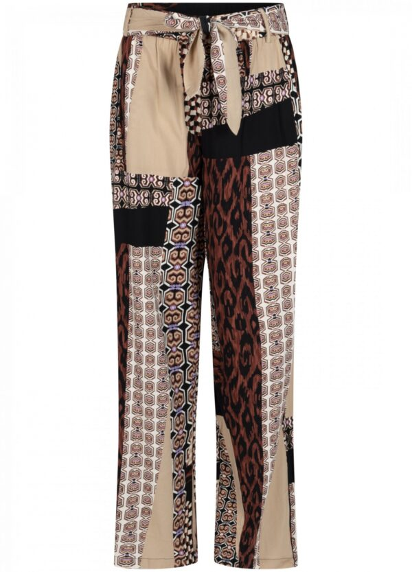 Trousers Wide Leg Graphic Print