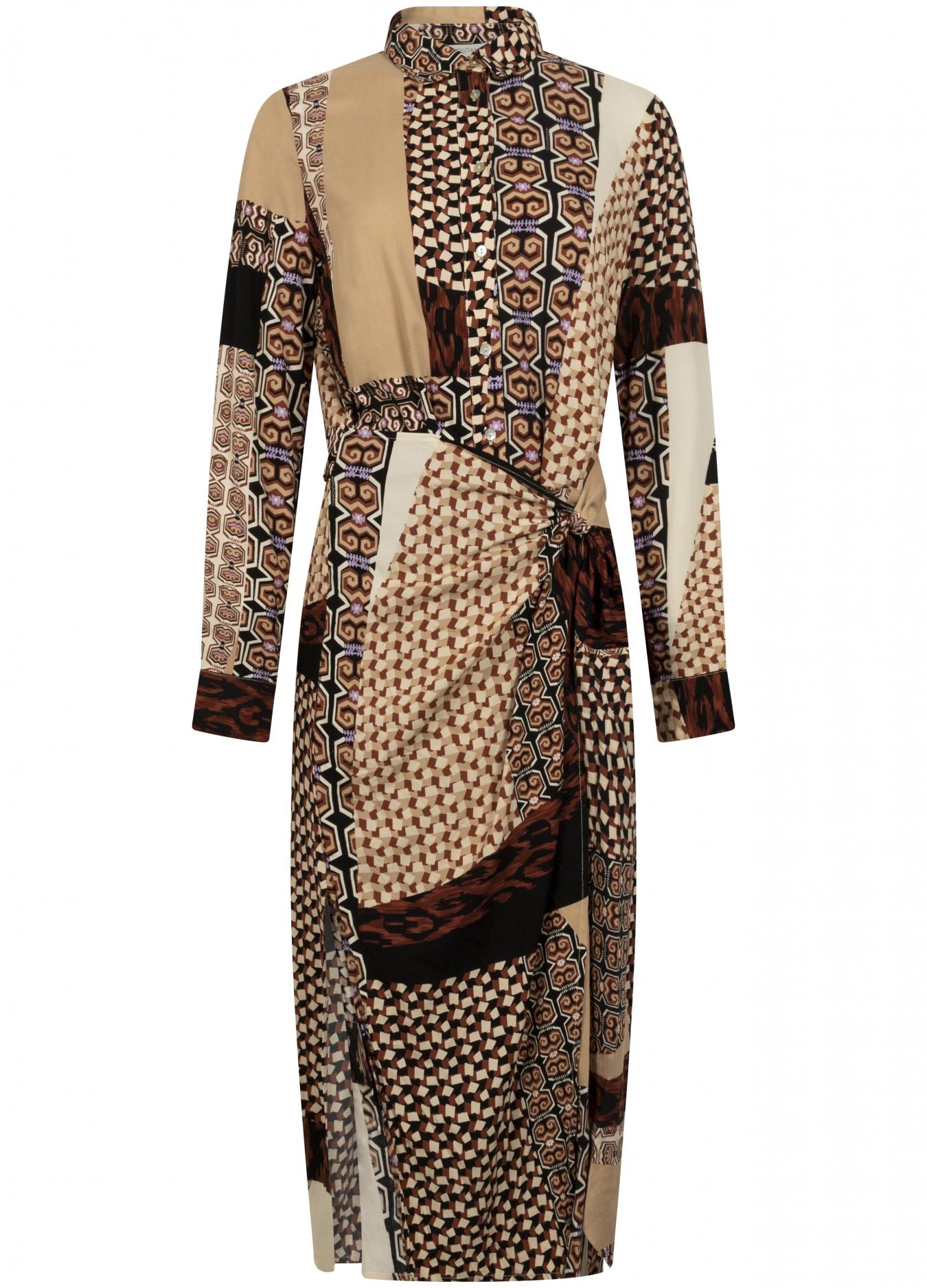 Midi Dress Mixed Graphic Print