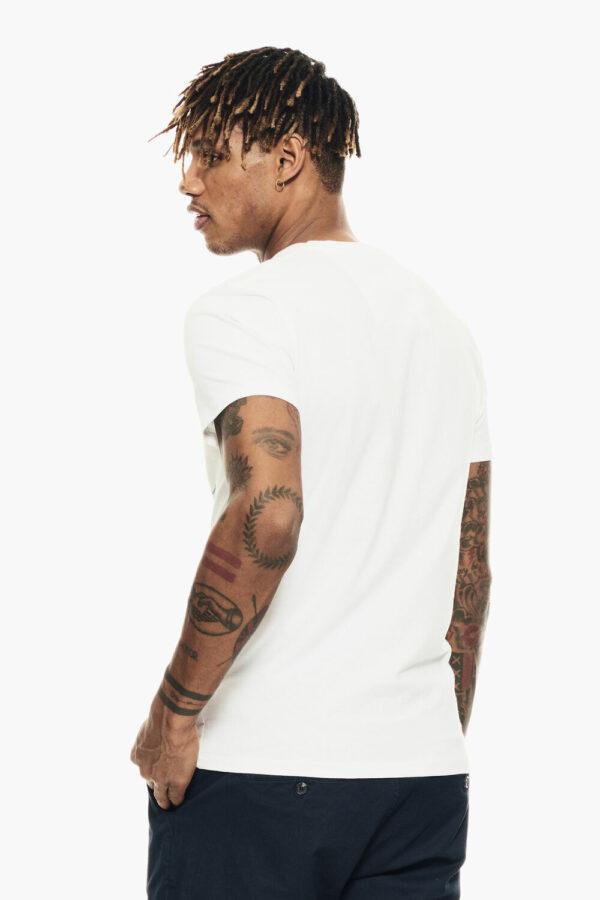 Wit T-shirt met blauwe print